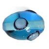 Glass Lamp Bead 14x10mm Oval Aqua